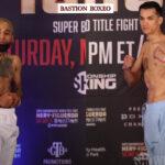 Imagen tras el pesaje para el combate Luis Nery vs. Brandon Figueroa