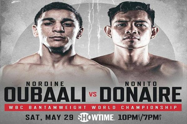 Cartel promocional del evento Nordine Oubaali vs. Nonito Donaire