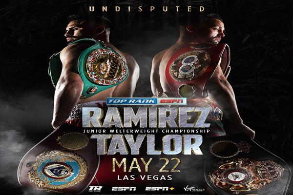 Cartel promocional del evento José Carlos Ramírez vs. Josh Taylor