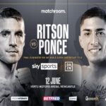Cartel promocional del evento Lewis Ritson vs. Jeremías Ponce