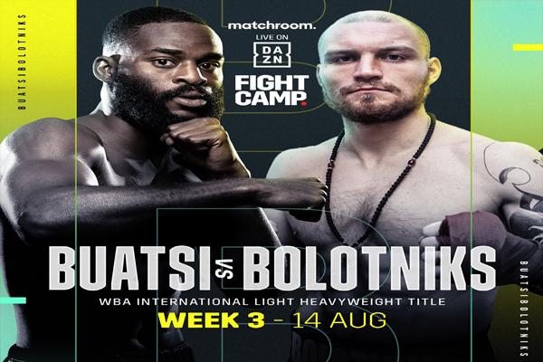 Cartel promocional del evento Joshua Buatsi vs. Ricards Bolotniks
