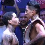 Cara a cara tras el pesaje para el combate Gervonta Davis vs. Mario Barrios