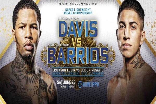 Cartel promocional del evento Gervonta Davis vs. Mario Barrios