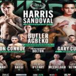 Cartel promocional del evento de MTK Jay Harris vs. Ricardo Sandoval