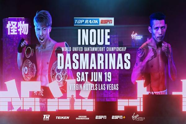 Cartel promocional del evento Naoya Inoue vs. Michael Dasmariñas