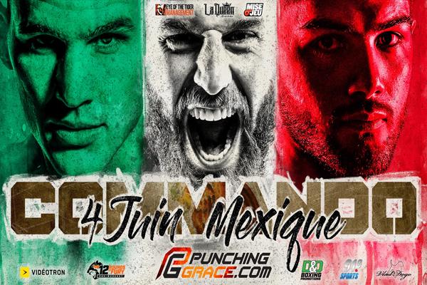 Cartel promocional del evento David Lemieux vs. David Zegarra