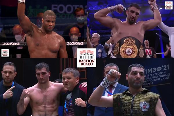 Mosaico de los resultados de los mejores combates (3al6-6-2021)