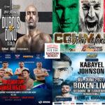 Mosaico de los mejores combates del fin de semana (3al6/6/2021)