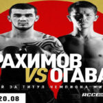 Cartel promocional del evento Shavkat Rakhimov vs. Kenichi Ogawa