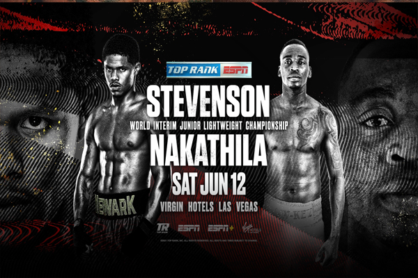 Cartel promocional del evento Shakur Stevenson vs. Jeremiah Nakathila