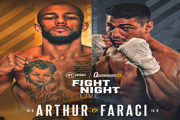 Cartel promocional del evento Lyndon Arthur vs. Davide Faraci