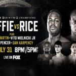 Cartel promocional del evento Michael Coffie vs. Jonathan Rice