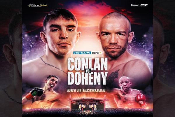 Cartel promocional del evento Michael Conlan vs. TJ Doheny