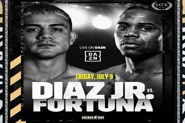 Imagen promocional del combate Joseph Díaz vs. Javier Fortuna