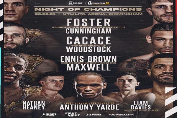 Cartel del evento Brad Foster vs. Jason Cunningham