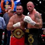 Murat Gassiev y Michael Wallisch posan tras su combate