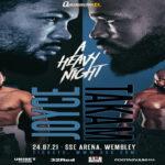 Cartel promocional del evento Joe Joyce vs. Carlos Takam