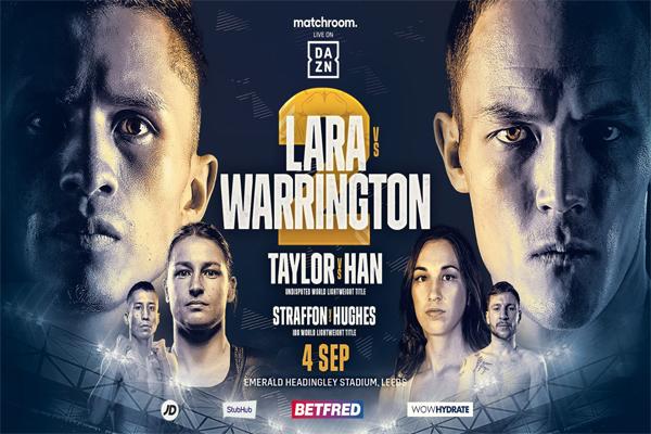 Cartel promocional del evento Mauricio Lara vs. Josh Warrington II