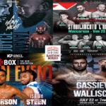 Mosaico de los mejores combates de la semana (21al24/7/2021)