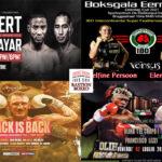 Mosaico de los mejores combates de la semana (1al4-7-2021)