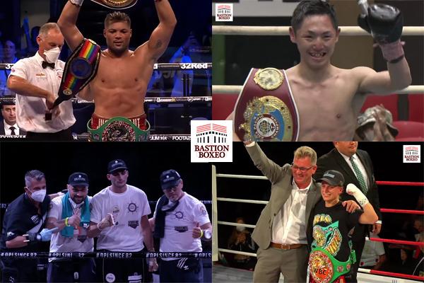 Mosaico de los resultados de los mejores combates de la semana (21al24-7-2021)