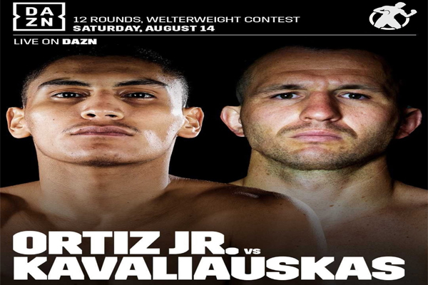 Cartel promocional del Vergil Ortiz Jr. vs. Egidijus Kavaliauskas