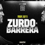 Cartel promocional del evento Gilberto Ramírez vs. Sullivan Barrera