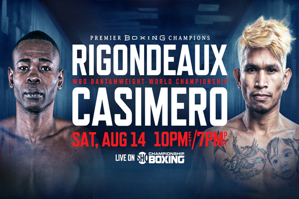 Cartel promocional del evento Guillermo Rigondeaux vs. John Riel Casimero