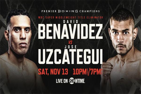 Cartel promocional del evento David Benavídez vs. José Uzcátegui