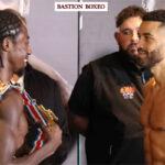Cara a cara tras el pesaje para el combate Akeem Ennis-Brown vs. Sam Maxwell