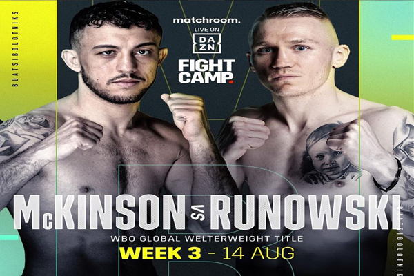 Cartel promocional del combate Michael McKinson vs. Przemyslaw Runowski