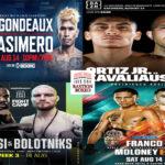 Mosaico de los mejores combates de la semana (12al14/8/2021)