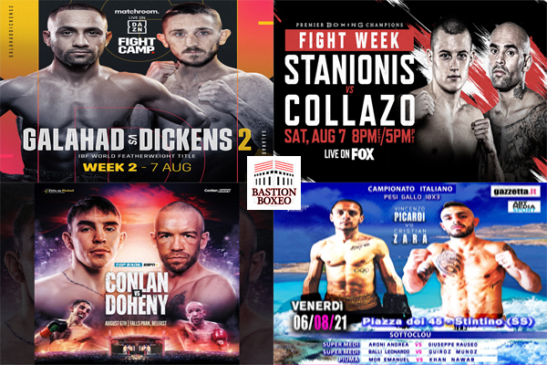 Mosaico de los mejores combates de la semana (5al7/8/2021)