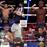 Mosaico de los resultados de los mejores combates (12al14-8-2021)