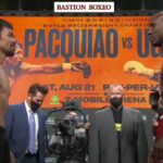 Cara a cara tras el pesaje para el combate Manny Pacquiao vs. Yordenis Ugás