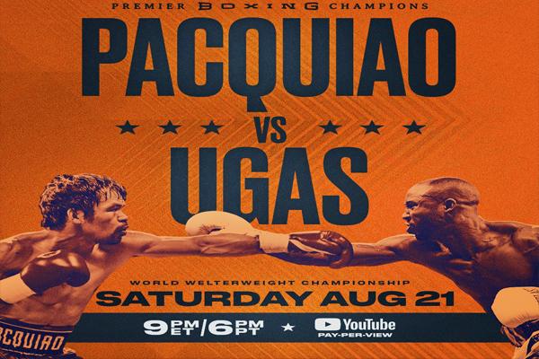 Cartel promocional de la velada Manny Pacquiao vs. Yordenis Ugás
