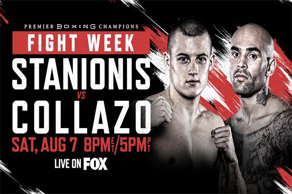 Cartel promocional del evento Eimantas Stanionis vs. Luis Collazo