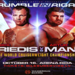 Cartel promocional del combate Mairis Briedis vs. Arthur Mann