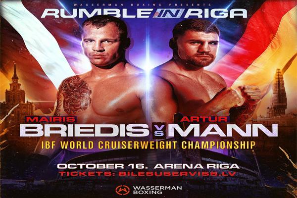 Wasserman Boxing confirma mundial IBF crucero Mairis Briedis vs. Arthur Mann