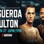 Cartel promocional para la unificación de coronas del peso supergallo Brandon Figueroa vs. Stephen Fulton