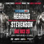 Cartel promocional del evento Jamel Herring vs. Shakur Stevenson