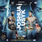 Cartel promocional del combate Anthony Joshua vs. Oleksandr Usyk