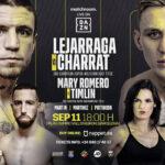 Cartel promocional del evento Kerman Lejarraga vs. Dylan Charrat