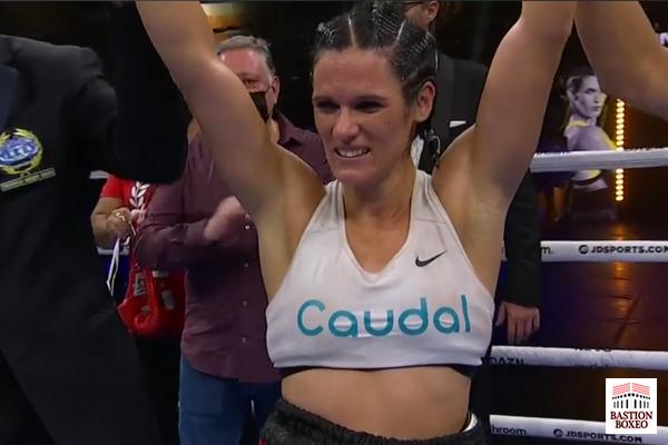 Mary Romero es proclamada vencedora en su primera defensa del cinturón europeo supergallo