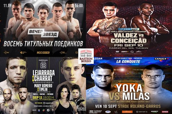 Los mejores combates de este fin semana (10-12/9/2021)
