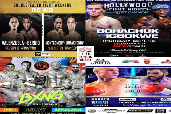 Los mejores combates de este fin de semana (16-19/9/2021)