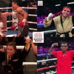 Mosaico de los resultados de los mejores combates de la semana (1al5-9-2021)