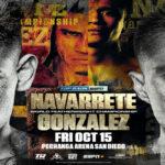 Cartel promocional del evento Emanuel Navarrete vs. Joet González