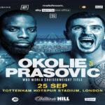 Imagen promocional del mundial Lawrence Okolie vs. Dilan Prasovic