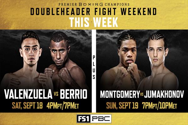 Previa: Valenzuela-Berrio y Montgomery-Jumakhonov veladas de prospectos de PBC el sábado y el domingo